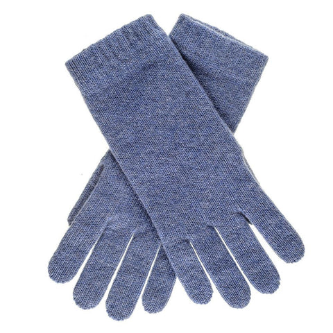 Ladies Denim Blue Cashmere Gloves