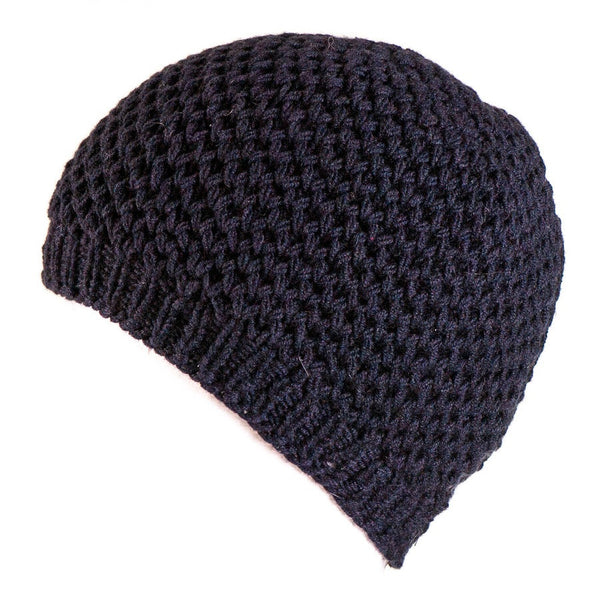 Midnight Navy Cashmere Beanie Hat