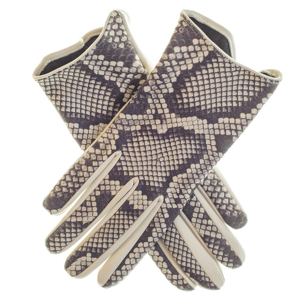 Python Print Leather Gloves