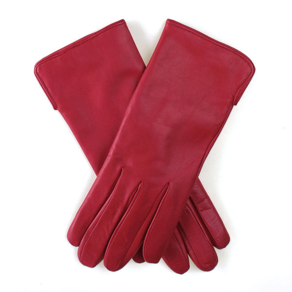 Red Leather Gloves with Cashmere Lining