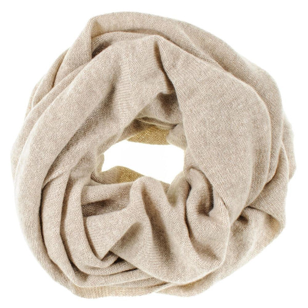 Beige Double Size Cashmere Snood