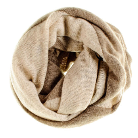 Cinnamon and Almond Double Sided Cashmere Snood