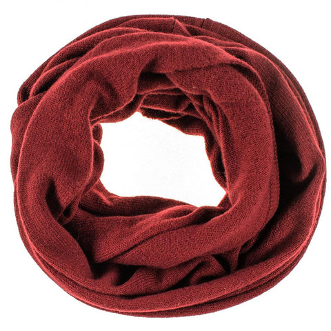 Burgundy Double Size Knitted Cashmere Snood
