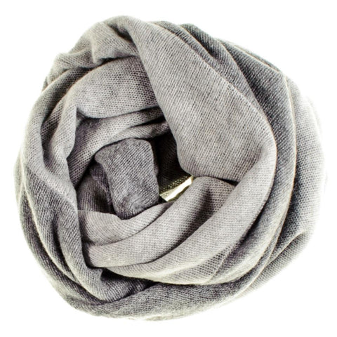 Two Tone Grey Double Sided Cashmere Snood