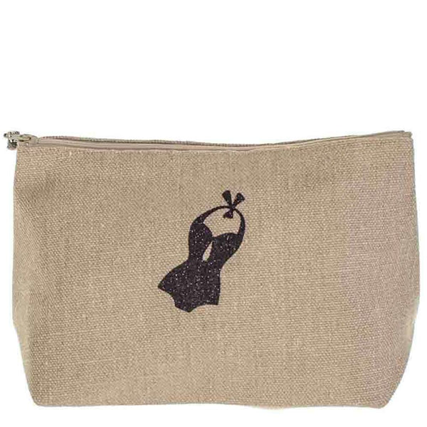 Biarritz Large Linen Make up Bag