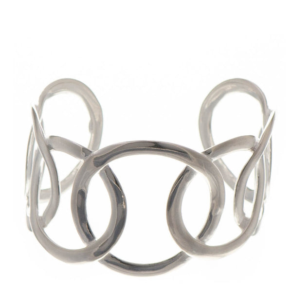 Large Link Sterling Silver Cuff