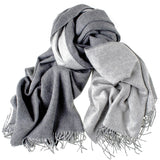 Two Tone Grey Reversible Cashmere Stole - SOLD OUT
