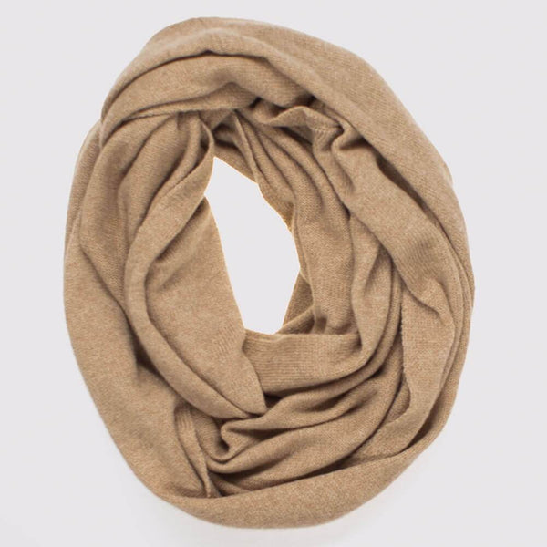 Caramel Double Size Knitted Cashmere Snood