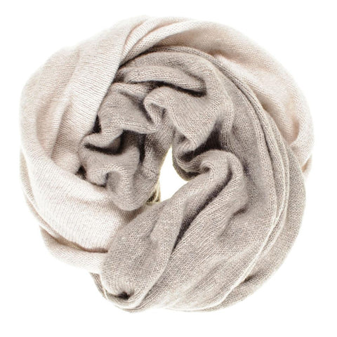 Latte and Chalk Cashmere Snood