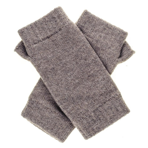 Light Brown Fingerless Cashmere  Mittens
