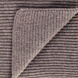 Light Brown Cashmere Rib Knit Scarf