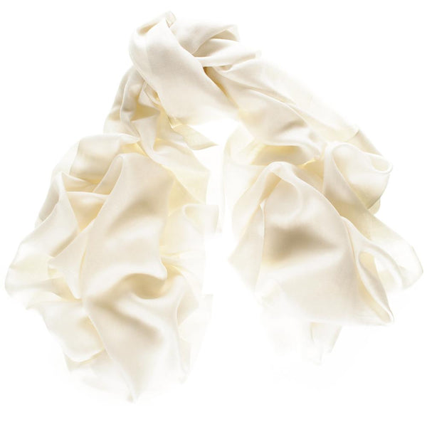 Classic Ivory Cashmere and Silk Wrap