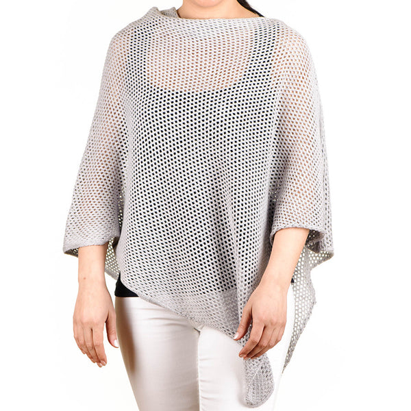 Silver Grey Soft Cotton Poncho