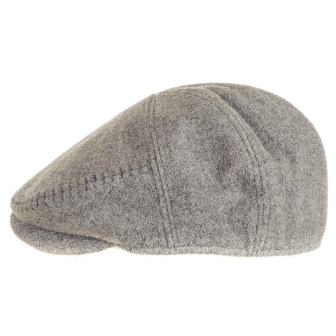 Grey Wool Flat Cap