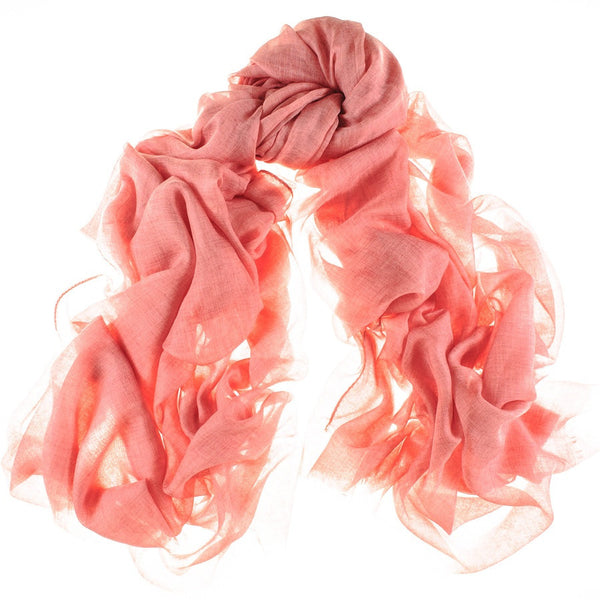 Coral Pink Modal and Cashmere Shawl
