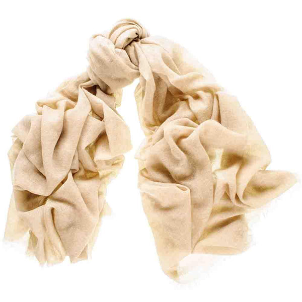 Light Camel Gossamer Cashmere Shawl