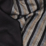 Lombard Black Wool and Silk Scarf