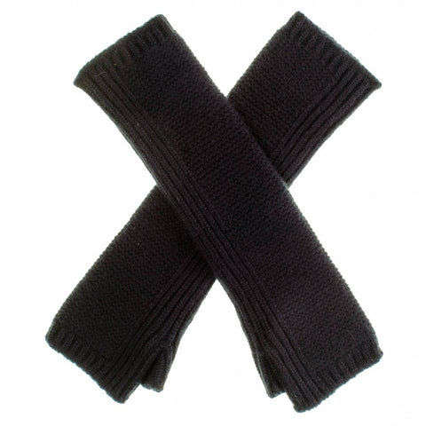 Long Black Cashmere Wrist Warmers