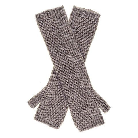 Long Light Brown Cashmere Wrist Warmers