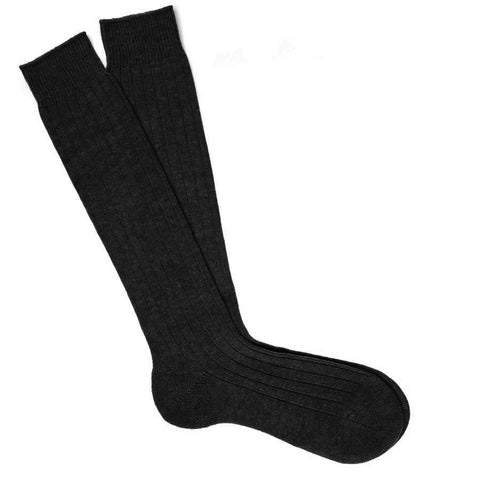Long Black Cashmere Socks