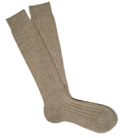 Long Natural Cashmere Socks