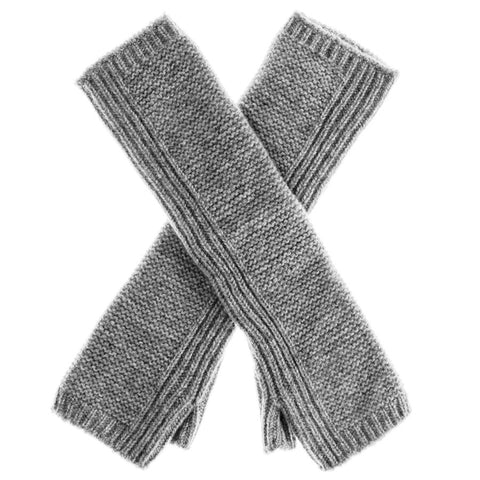 Long Grey Cashmere Wrist Warmers