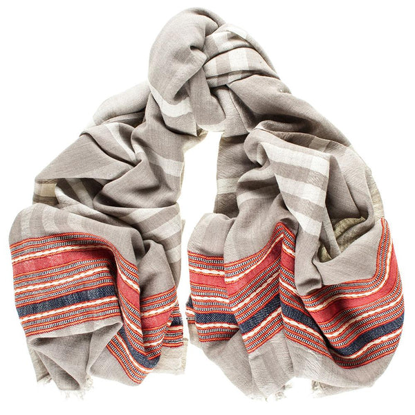 Manali Oversize Himalayan Cashmere and Wool Scarf