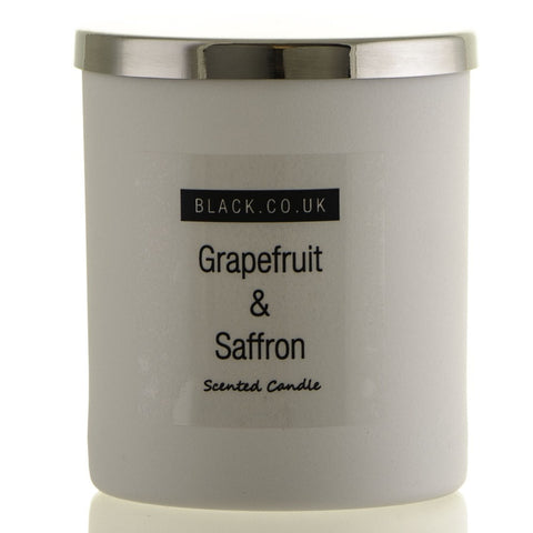 Grapefruit and Saffron Scented Candle - Matt White Glass
