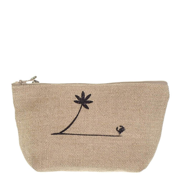 Biarritz Medium Linen Make Up Bag