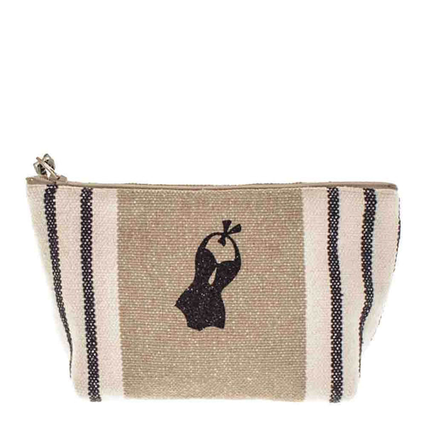 Deauville  Medium Linen Make Up Bag