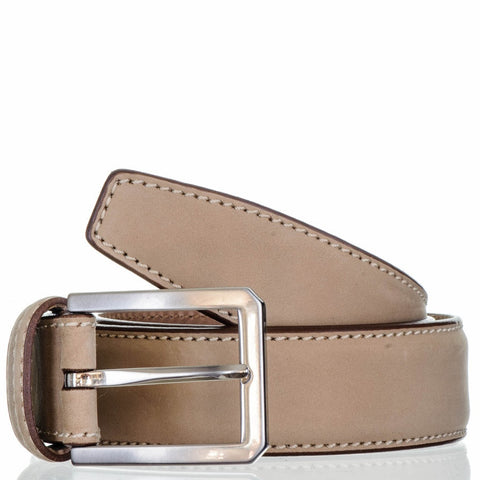 Beige Suede Belt - Italian Leather