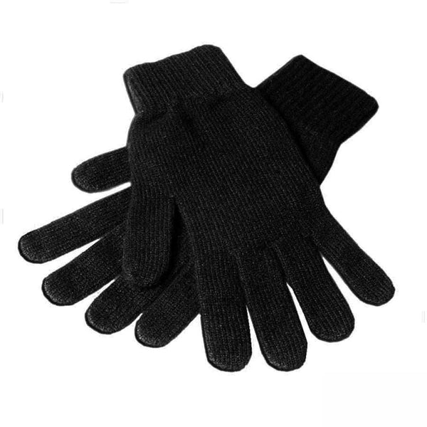 Men's Black Cashmere Gloves