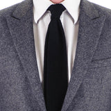 Black Knitted Cashmere Tie