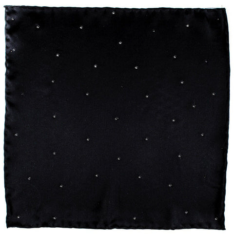 Black Swarovski Crystal Pocket Square
