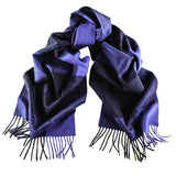 Lonsdale Blue Check Cashmere Scarf