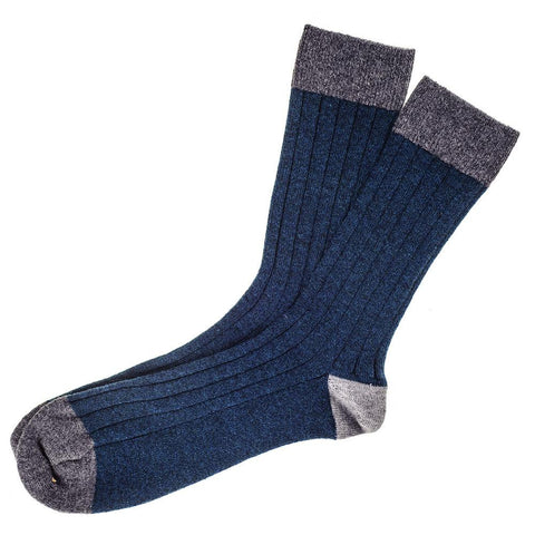 Teal and Grey Cashmere Socks