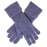 Mens Blue Marl Cashmere Gloves