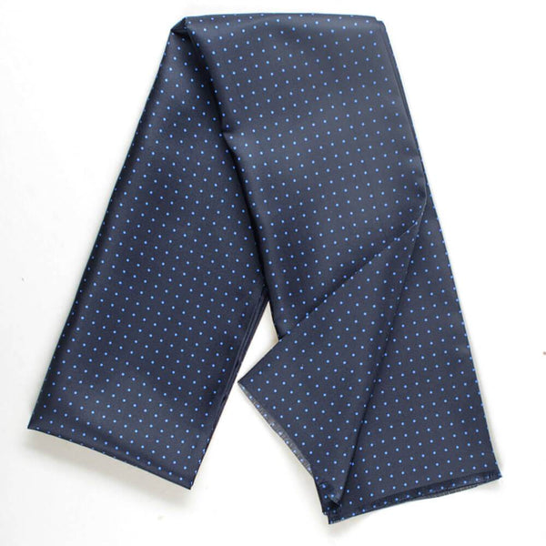 Orcus Two Tone Blue Polka Dot Italian Silk Scarf