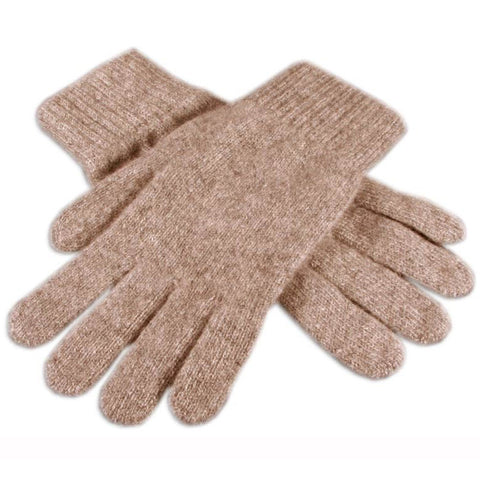 Men's Light Brown Cashmere Gloves
