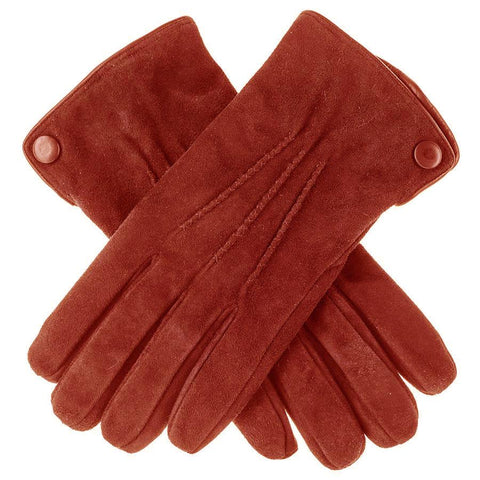 Cognac Suede Gloves with Cashmere Lining