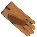 Men's Two Tone Brown Nubuck 'Patchwork' Leather Gloves Cashmere Lined