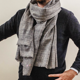Oversized Prince of Wales Check Cashmere Scarf