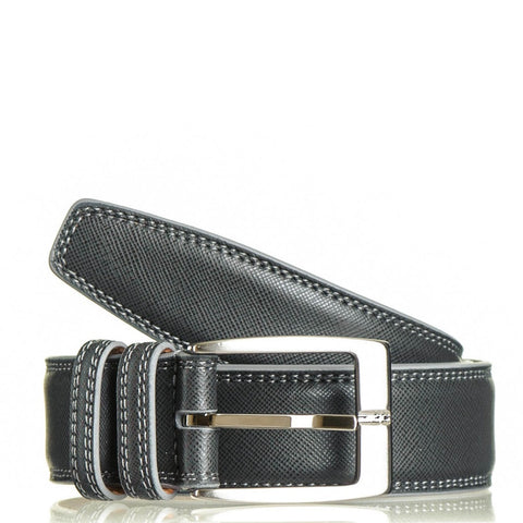 Smokey Grey Italian Leather Belt