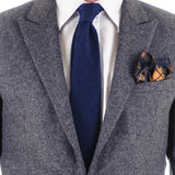 Navy Blue Knitted Cashmere Tie