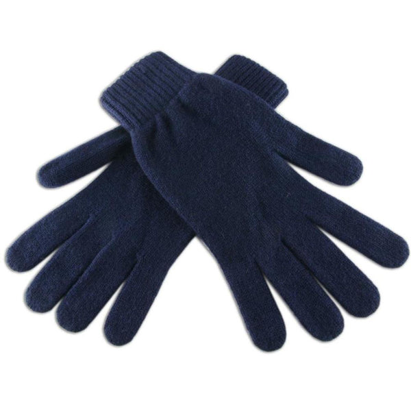 Men's Navy Cashmere Gloves