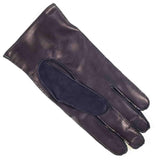 Men's Navy Suede and Leather Gloves  Cashmere Lined