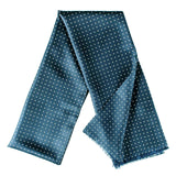 Vernazza French Blue Polka Dot Silk Scarf