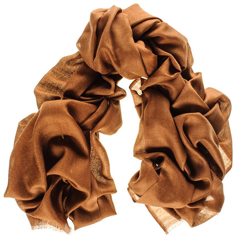 Military Brown Cashmere and Silk Wrap