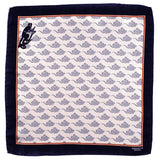'Smoky Monkey' Italian Silk Pocket Square