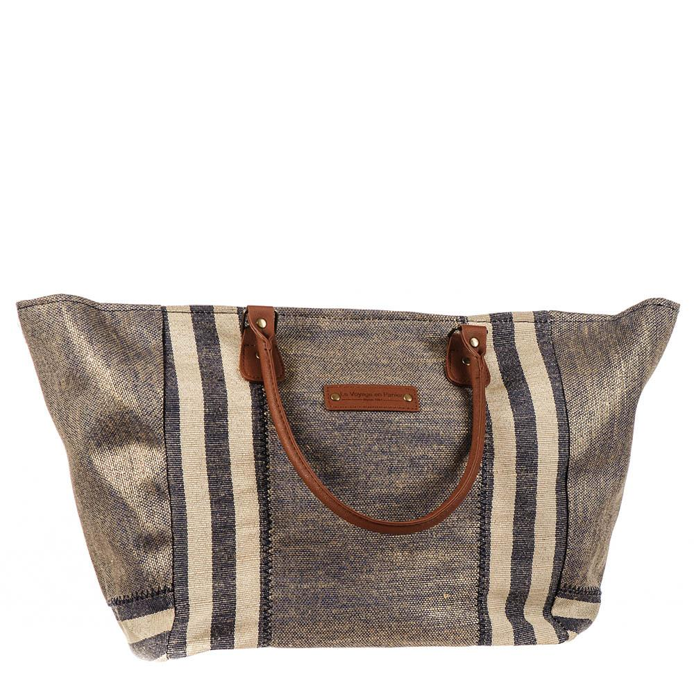 ff5db255c Mykonos Navy and Gold Hessian Beach Tote Bag – Black.co.uk